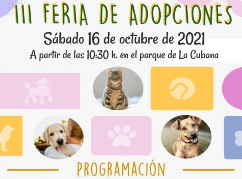 <span style='color:#780948'>ARCHIVED</span> - Animal Adoption Fair in Alhama de Murcia: October 16