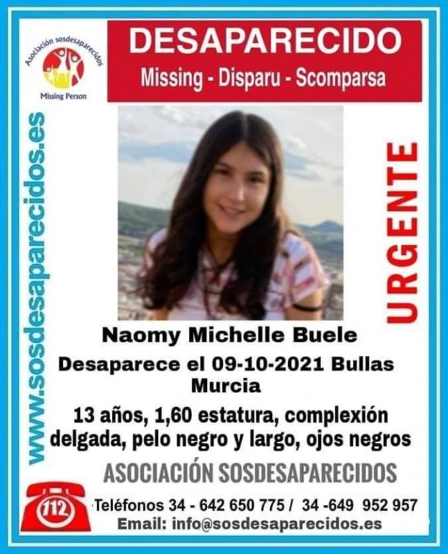 13-year-old girl missing in Bullas