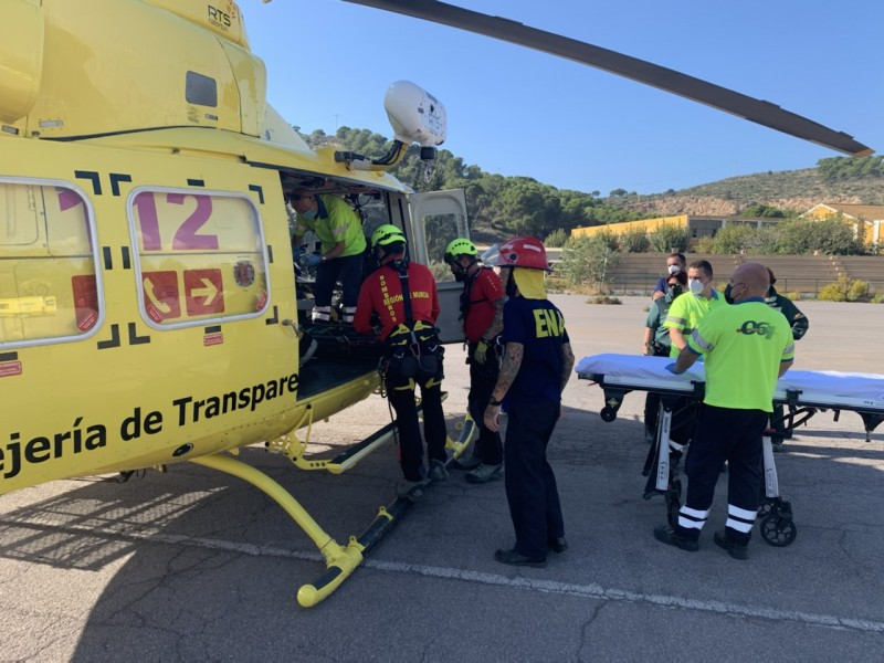 Helicopter rescue for injured 67-year-old hiker in Cartagena