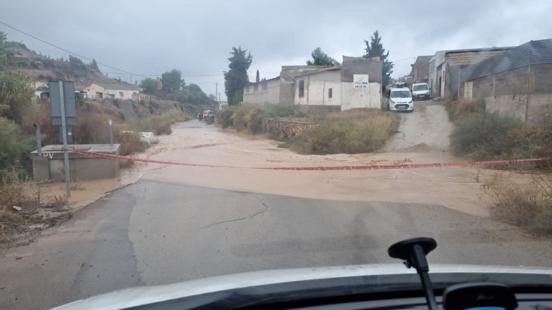 Flooding begins in Murcia and more rain is yet to come: October 22