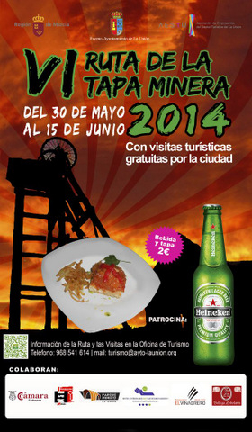 <span style='color:#780948'>ARCHIVED</span> - La Unión, Tapas route 31st May to 15th June