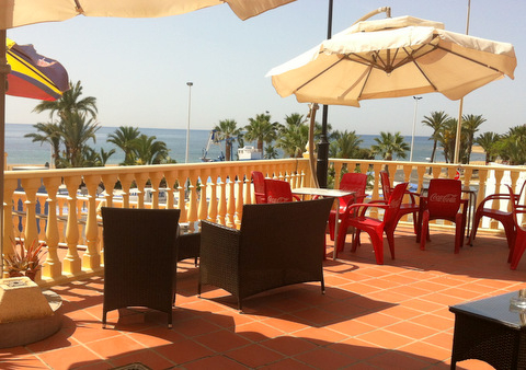 La Proa, Menu del dia 8.50 euros, fantastic sea views, Puerto de Mazarron