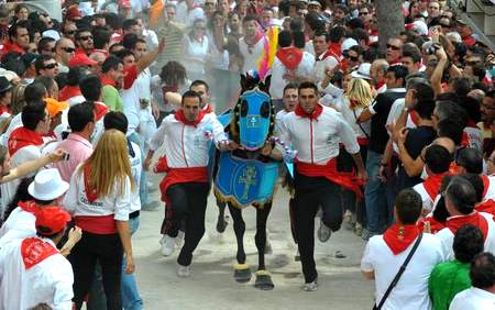 Running of the wine horses, Caravaca de la Cruz