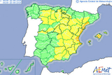 Murcia on yellow alert for heavy rains on Monday