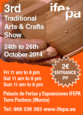 24th to 26th October, Arts and crafts fair, IFEPA Torre Pacheco