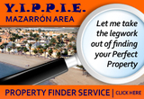 Yippie property finder service in the Bay of Mazarrón and surrounding areas
