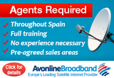 Avonline satellite broadband providers are looking for agents in Spain
