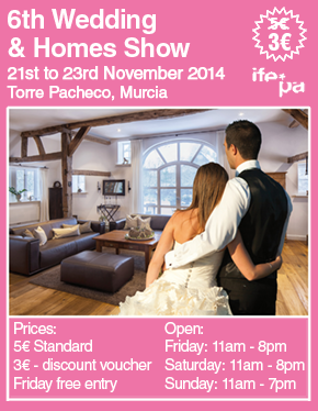 <span style='color:#780948'>ARCHIVED</span> - November 21st to 23rd, Weddings and Homes Fair IFEPA Torre Pacheco
