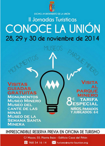 <span style='color:#780948'>ARCHIVED</span> - 28th to 30th November, free tours of La Unión museums and reduced entry to Parque Minero