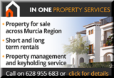 In One Property management, sales, rentals for Murcia Region and southern Costa Blanca