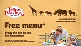 6th to 8th December, Free meal offer at Terra Natura Murcia