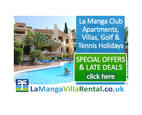 La Manga Villa Rental specialists in Villa and Apartment rentals on La Manga Club Resort