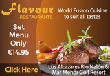 Flavour restaurants: Los Alcázares and Mar Menor Golf Resort