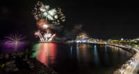 14th August annual firework display in Águilas