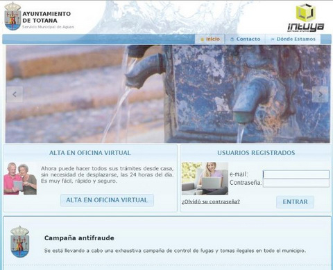 Totana water supply company provides online billing and meter reading facility