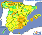 Weather warning in the Region of Murcia this weekend