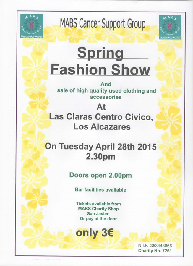<span style='color:#780948'>ARCHIVED</span> - 28th April MABS Mar Menor Spring Fashion Show