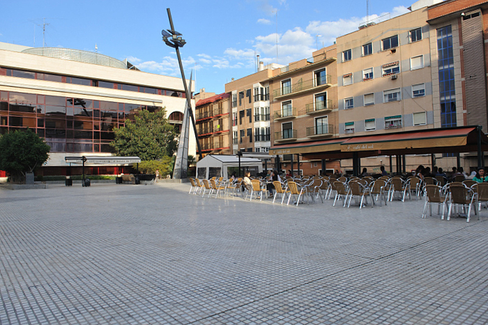 The Plaza de Europa in Murcia