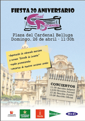<span style='color:#780948'>ARCHIVED</span> - 26th April, free morning choral concerts in Murcia Plaza Belluga