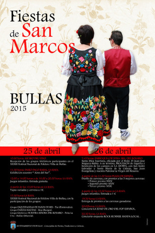 <span style='color:#780948'>ARCHIVED</span> - 25th and 26th April, Fiestas de San Marcos in Bullas
