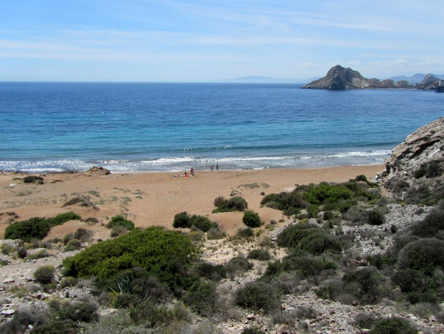 Águilas beaches: Playa Amarilla