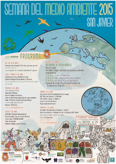<span style='color:#780948'>ARCHIVED</span> - 3rd to 7th June, activities to celebrate World Environment Day in San Javier