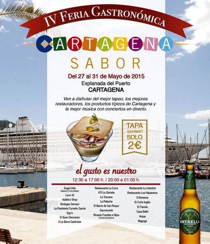 <span style='color:#780948'>ARCHIVED</span> - 27th to 31st May, open-air gourmet tapas event in Cartagena