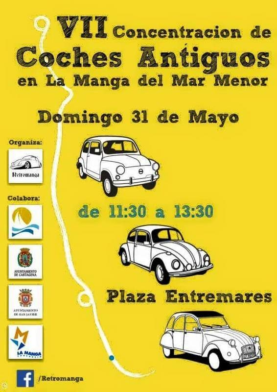<span style='color:#780948'>ARCHIVED</span> - 31st May, classic car rally in La Manga del Mar Menor