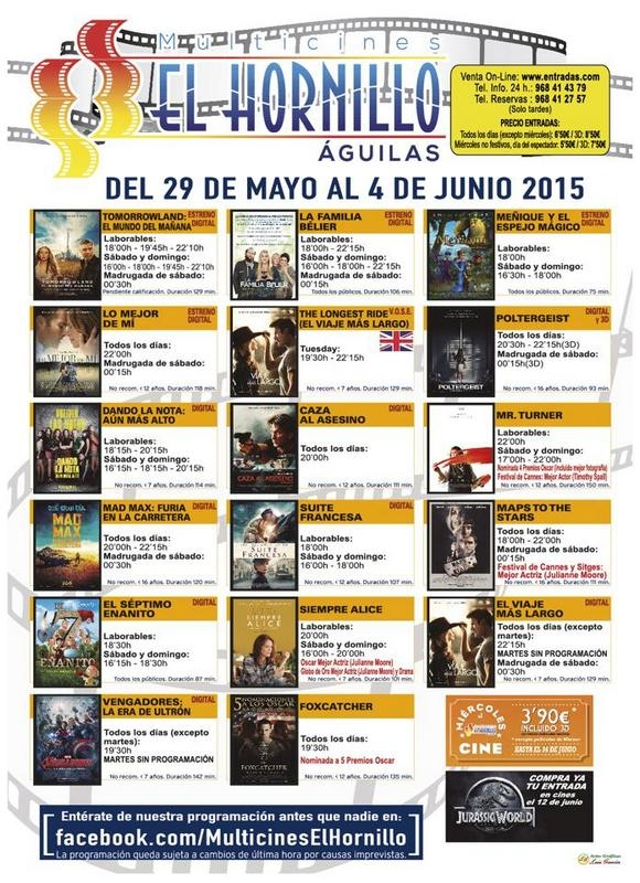 <span style='color:#780948'>ARCHIVED</span> - 2nd June, The Longest Ride, English language cinema in Águilas