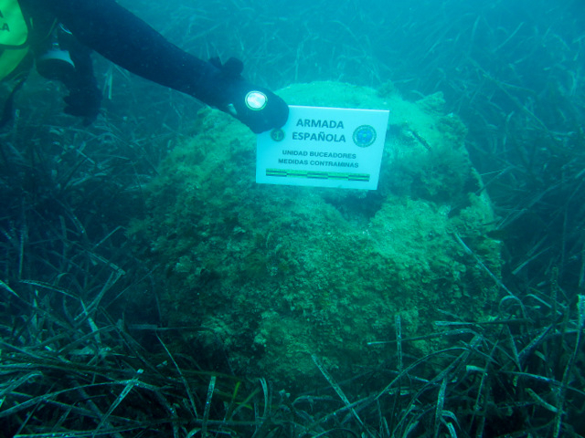 <span style='color:#780948'>ARCHIVED</span> - World War II mine deactivated by Cartagena divers in Girona