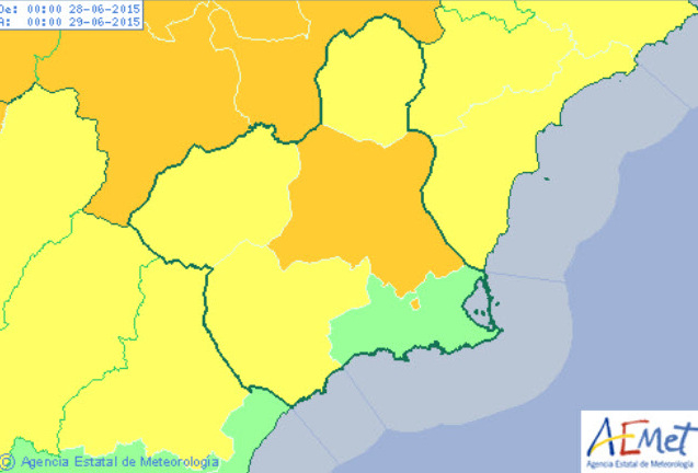 <span style='color:#780948'>ARCHIVED</span> - Aemet raises heat alert for parts of Murcia to orange level