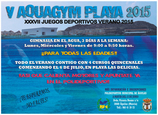 Aquagym in the sea Águilas