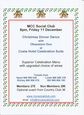 11th December Mazarron Country Club Social Club Christmas Dinner Dance