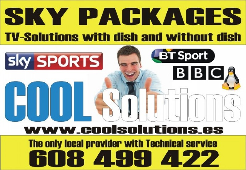 Cool Solutions Internet T.V Provider and Satellite specialist in the Murcia Region