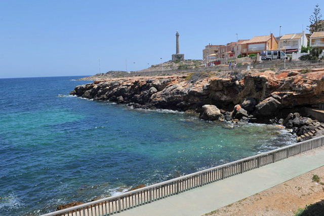 Cartagena beaches: Cala de Las Escalerillas in Cabo de Palos