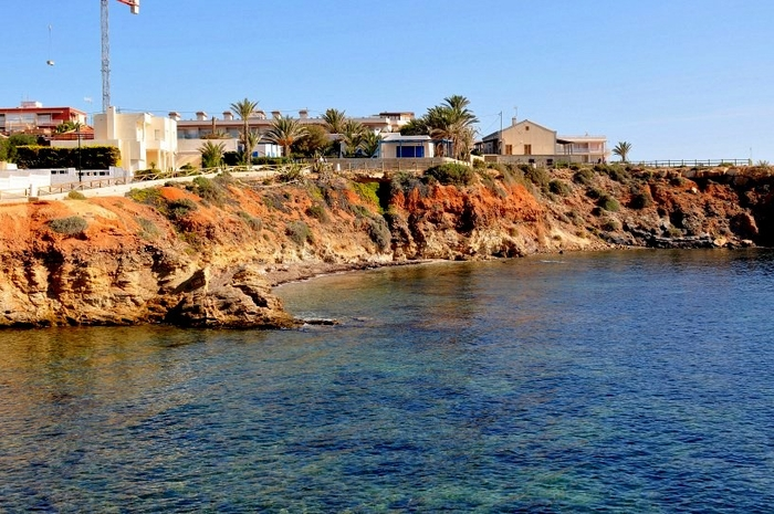 Cartagena beaches:Cala de las Melvas beach in Cabo de Palos