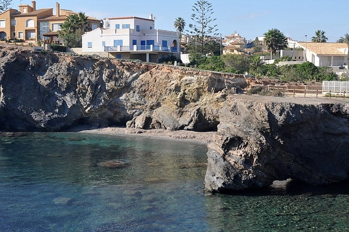 Cartagena beaches: Cala Medina beach in Cabo de Palos