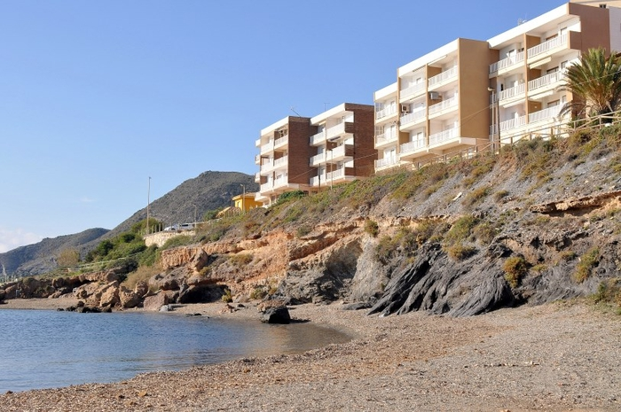 Cartagena beaches: Playa del Descargador beach in Cabo de Palos