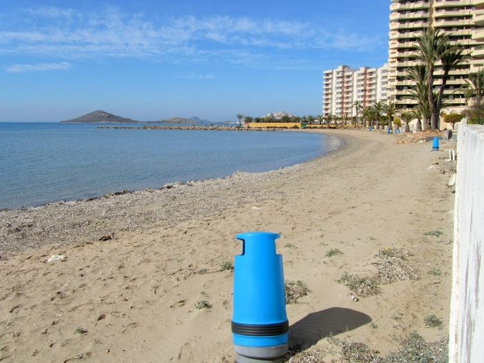 Cartagena beaches: Playa de Puerto Bello in La Manga del Mar Menor