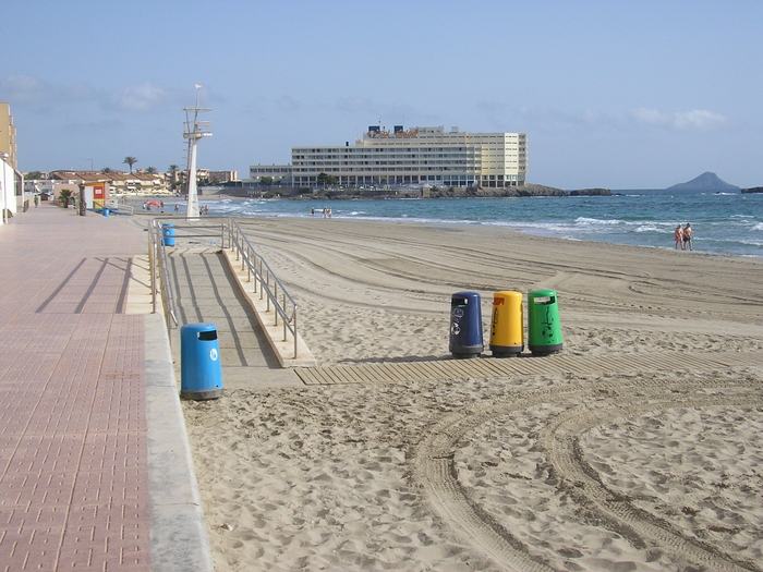 Cartagena beaches: Playa Galúa, La Manga del Mar Menor