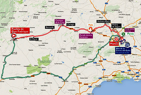 ! Murcia Today - Timings For Vuelta A España Cycling Race ...