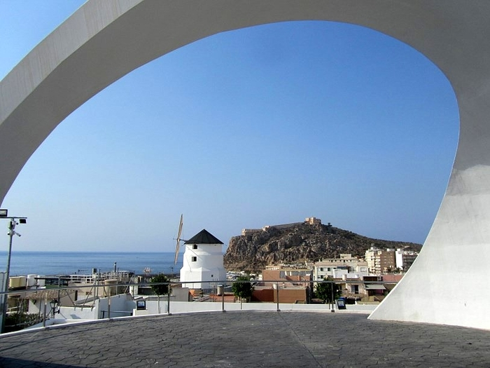 Molino Sagrera windmill and viewing point in Águilas