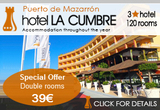 Spacial Offer Room Rate Hotel La Cumbre Puerto de Mazarron
