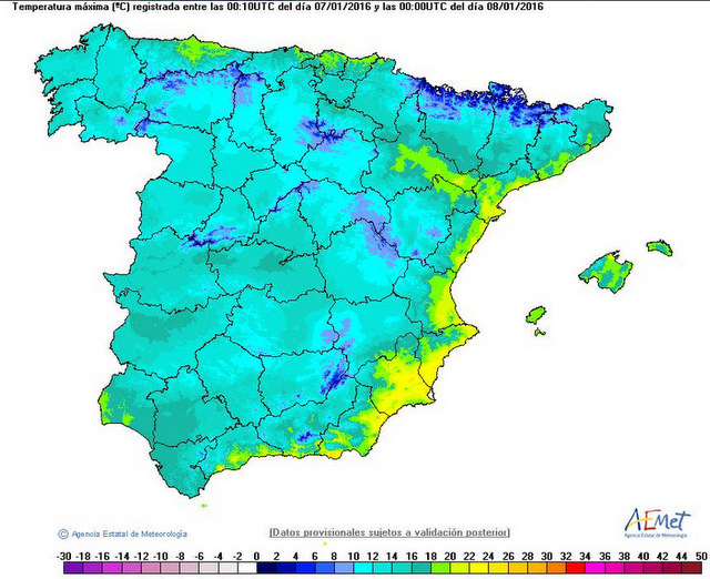 <span style='color:#780948'>ARCHIVED</span> - San Javier warmest place in Spain on Thursday with 25 degrees