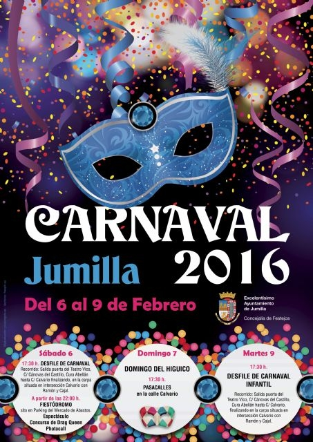 6th,7th and 9th February, Carnival celebrations in Jumilla