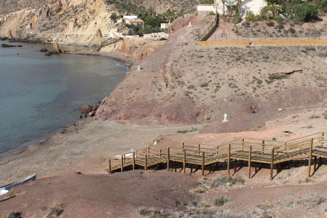 <span style='color:#780948'>ARCHIVED</span> - Access improvement work under way at two Mazarron beaches