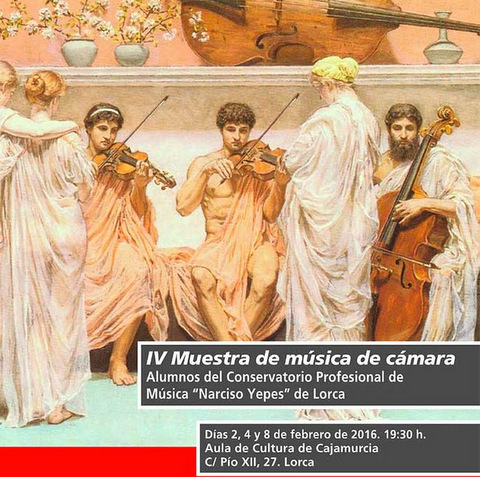 8th February free entry classical music recital in Lorca