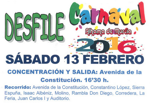 13th February Alhama de Murcia main carnival parade
