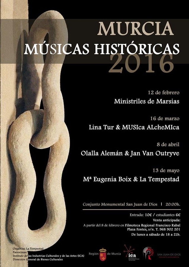 12th February Spanish music from the 16th and 17th centuries in Murcia