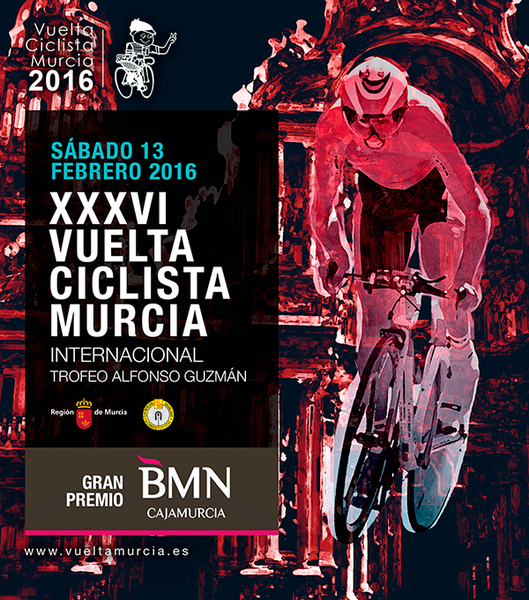 13th February, 133 riders in the 2016 cycling Tour of Murcia